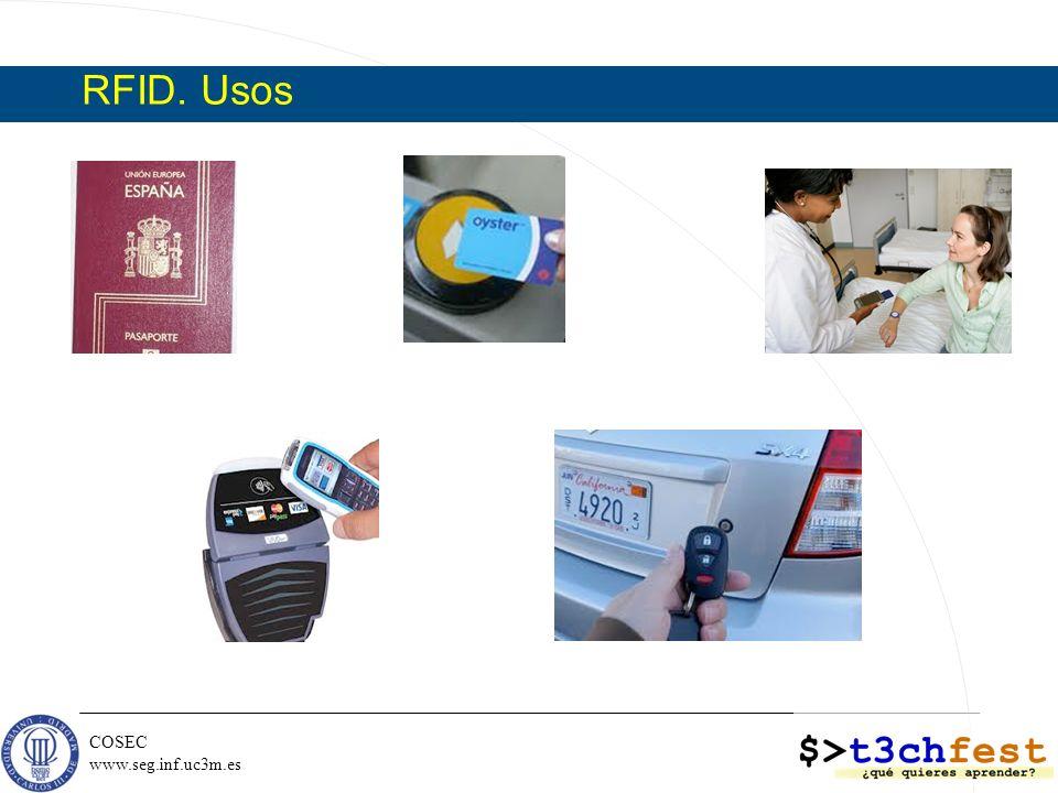 RFID. Usos [Stallings T1]